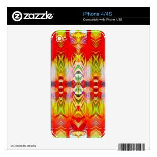 Amarillo rojo psicodélico skin para el iPhone 4S