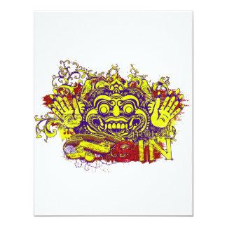 amarillo rojo púrpura afectado del diseño del comunicados personales