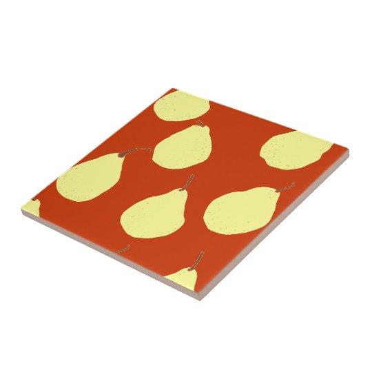 amarillo rojo y poner crema del modelo de la pera azulejo cuadrado pequeño