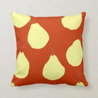 amarillo rojo y poner crema del modelo de la pera almohada