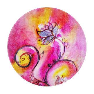 Amarillo rosado azul de las FLORES CAPRICHOSAS Tablas De Cortar