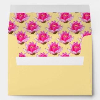 Amarillo rosado de Waterlilies Sobres