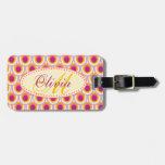 Amarillo rosado modelado nombrado etiqueta del equ etiquetas bolsas