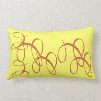 Amarillo salpicado almohada