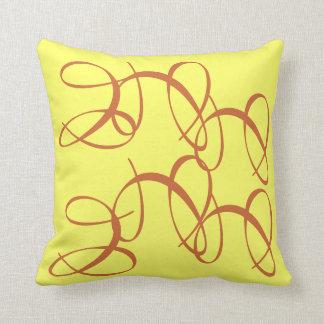 Amarillo salpicado cojin