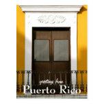 Amarillo, saludos de Puerto Rico Postal