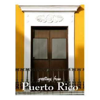 Amarillo, saludos de Puerto Rico Tarjeta Postal
