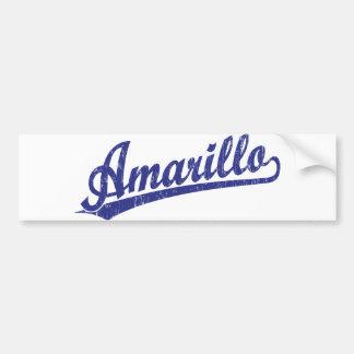 Amarillo script logo in blue bumper sticker