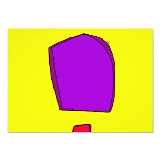 """Amarillo simple invitación 5"""" x 7"""""""