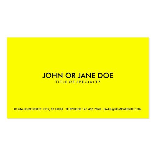 amarillo simple plantillas de tarjetas de visita