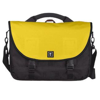Amarillo sólido bolsa de ordenador