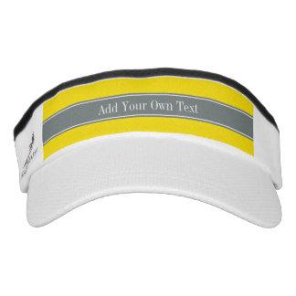 Amarillo sólido, monograma del nombre de la cinta visera