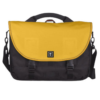 Amarillo sólido/oro del azafrán bolsas para portatil