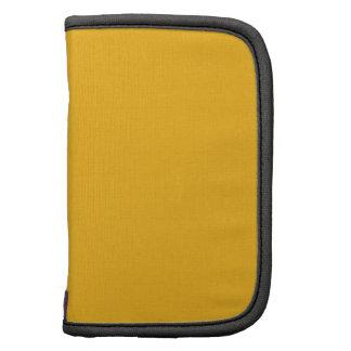 Amarillo sólido/oro del azafrán organizadores