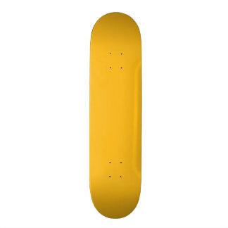 Amarillo sólido/oro del azafrán skateboard