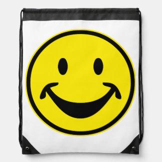 Amarillo sonriente divertido + su backg. y ideas mochila