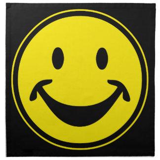 Amarillo sonriente divertido + su backg. y ideas servilletas de papel