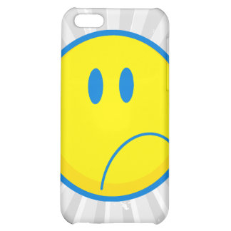 amarillo sonriente y azul de la cara triste tonta
