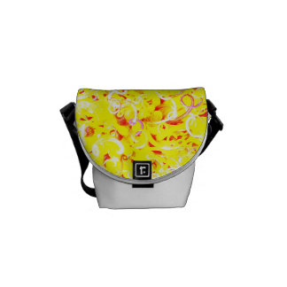 Amarillo soplado de cristal bolsas de mensajeria