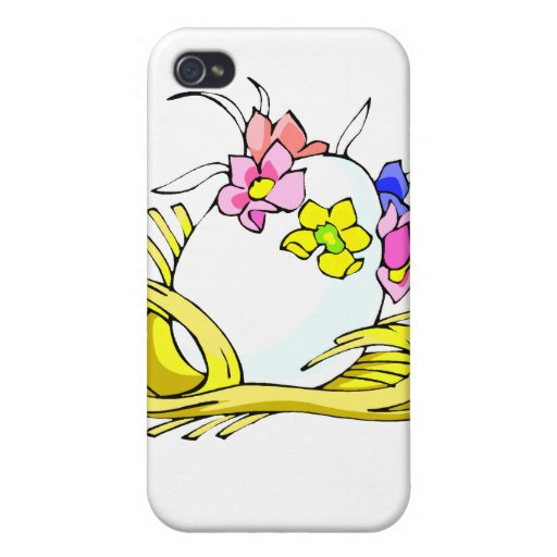 amarillo straw.png de la corona de la flor del hue iPhone 4 funda