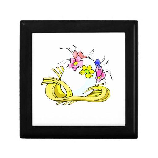 amarillo straw.png de la corona de la flor del hue joyero cuadrado pequeño