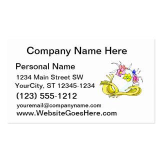 amarillo straw.png de la corona de la flor del hue tarjeta personal