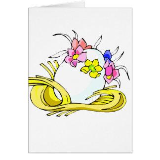 amarillo straw.png de la corona de la flor del tarjeta pequeña