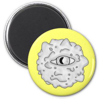 Amarillo sustancioso del imán del globo del ojo
