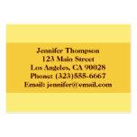 amarillo tarjetas de visita