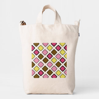 Amarillo tejado diagonal geométrico del rosa del bolsa de lona duck