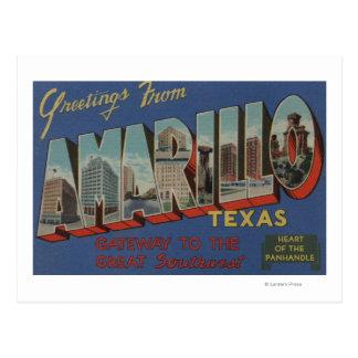 Amarillo, Tejas (corazón de la Cacerola-Manija) Tarjetas Postales