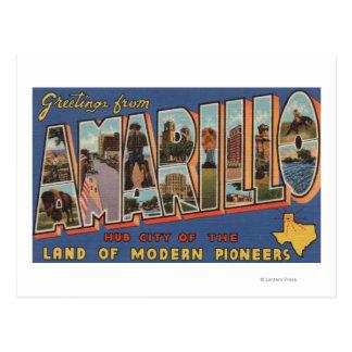 Amarillo, Tejas - escenas grandes de la letra Postales