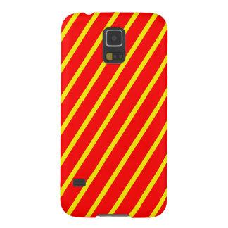 Amarillo, teléfono rayado rojo carcasas de galaxy s5