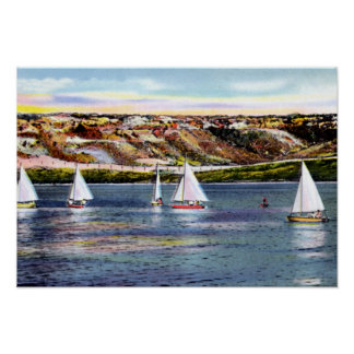 Amarillo Texas Buffalo Lake Sailing Poster