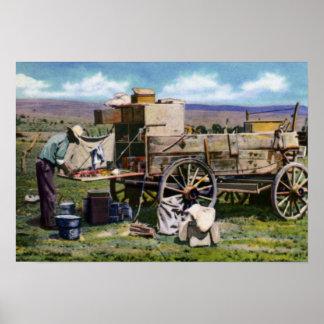 Amarillo Texas Chuck Wagon Poster