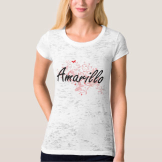 Amarillo Texas City Artistic design with butterfli T-Shirt