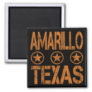 AMARILLO TEXAS - DISTRESSED STYLE MAGNET