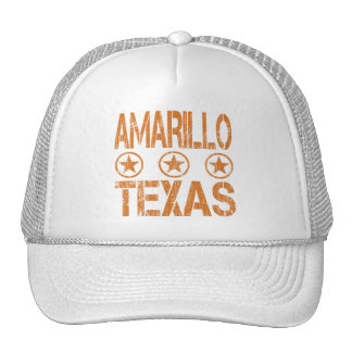 AMARILLO TEXAS - DISTRESSED STYLE TRUCKER HAT