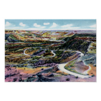 Amarillo Texas Goodnight Trail over Palo Duro Poster