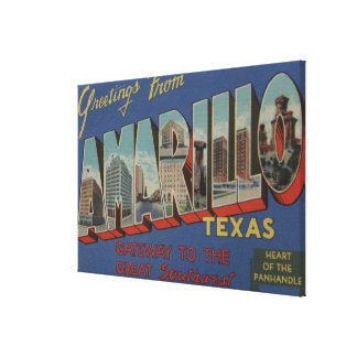 Amarillo, Texas (Heart of the Pan-Handle) Canvas Print