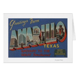 Amarillo, Texas (Heart of the Pan-Handle) Greeting Card