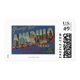 Amarillo, Texas (Heart of the Pan-Handle) Stamps