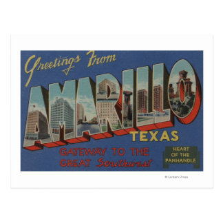 Amarillo, Texas (Heart of the Pan-Handle) Postcard