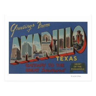 Amarillo, Texas (Heart of the Pan-Handle) Postcards