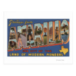 Amarillo, Texas - Large Letter Scenes Post Card