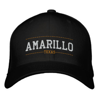 Amarillo Texas USA Embroidered Hats