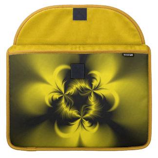 Amarillo torcido funda para macbook pro