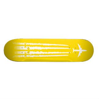 Amarillo tropical de la línea aérea tablas de patinar