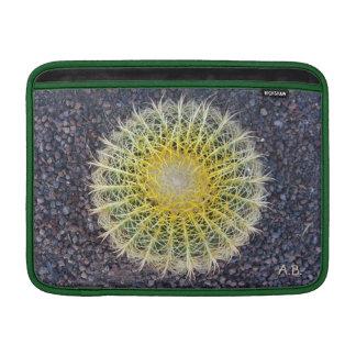 Amarillo tropical del verde de la grava del cactus fundas para macbook air