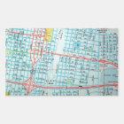AMARILLO, TX Vintage Map Rectangular Sticker